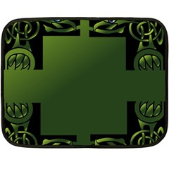 Celtic Corners Fleece Blanket (mini) by Simbadda