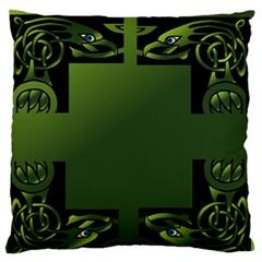 Celtic Corners Large Flano Cushion Case (two Sides) by Simbadda