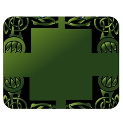 Celtic Corners Double Sided Flano Blanket (medium)  by Simbadda