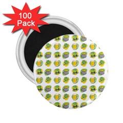 St Patrick s Day Background Symbols 2 25  Magnets (100 Pack)  by Simbadda