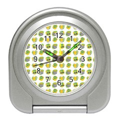 St Patrick s Day Background Symbols Travel Alarm Clocks by Simbadda