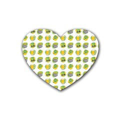St Patrick s Day Background Symbols Heart Coaster (4 Pack)  by Simbadda