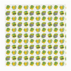 St Patrick s Day Background Symbols Medium Glasses Cloth by Simbadda