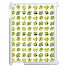 St Patrick s Day Background Symbols Apple Ipad 2 Case (white) by Simbadda