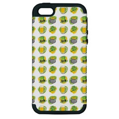 St Patrick s Day Background Symbols Apple Iphone 5 Hardshell Case (pc+silicone) by Simbadda