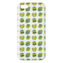 St Patrick s Day Background Symbols Apple Iphone 5 Premium Hardshell Case by Simbadda