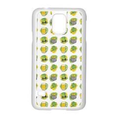 St Patrick s Day Background Symbols Samsung Galaxy S5 Case (white) by Simbadda