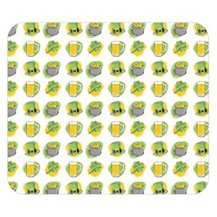 St Patrick s Day Background Symbols Double Sided Flano Blanket (small)  by Simbadda
