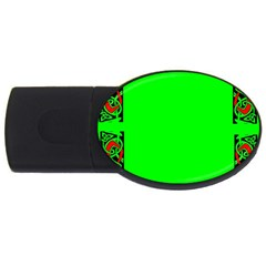 Decorative Corners USB Flash Drive Oval (2 GB) by Simbadda