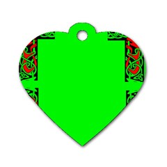 Decorative Corners Dog Tag Heart (one Side) by Simbadda