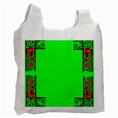 Decorative Corners Recycle Bag (two Side)  by Simbadda