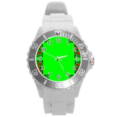 Decorative Corners Round Plastic Sport Watch (l) by Simbadda