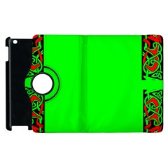 Decorative Corners Apple Ipad 2 Flip 360 Case by Simbadda
