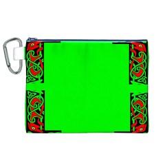 Decorative Corners Canvas Cosmetic Bag (xl) by Simbadda