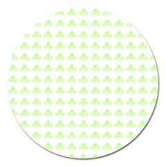 Shamrock Irish St Patrick S Day Magnet 5  (round) by Simbadda