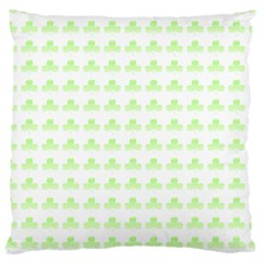 Shamrock Irish St Patrick S Day Large Cushion Case (two Sides) by Simbadda