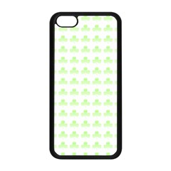 Shamrock Irish St Patrick S Day Apple Iphone 5c Seamless Case (black) by Simbadda