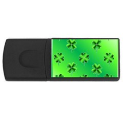 Shamrock Green Pattern Design Usb Flash Drive Rectangular (4 Gb) by Simbadda