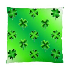 Shamrock Green Pattern Design Standard Cushion Case (one Side) by Simbadda