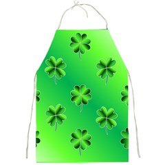 Shamrock Green Pattern Design Full Print Aprons by Simbadda
