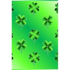 Shamrock Green Pattern Design 5 5  X 8 5  Notebooks by Simbadda