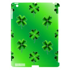 Shamrock Green Pattern Design Apple Ipad 3/4 Hardshell Case (compatible With Smart Cover) by Simbadda