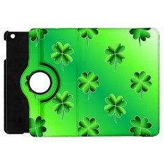 Shamrock Green Pattern Design Apple Ipad Mini Flip 360 Case by Simbadda