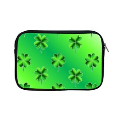 Shamrock Green Pattern Design Apple Ipad Mini Zipper Cases by Simbadda