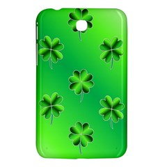 Shamrock Green Pattern Design Samsung Galaxy Tab 3 (7 ) P3200 Hardshell Case  by Simbadda