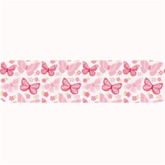 Cute Pink Flowers And Butterflies Pattern  Large Bar Mats by TastefulDesigns