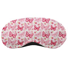 Cute Pink Flowers And Butterflies Pattern  Sleeping Masks by TastefulDesigns