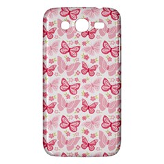 Cute Pink Flowers And Butterflies Pattern  Samsung Galaxy Mega 5 8 I9152 Hardshell Case  by TastefulDesigns