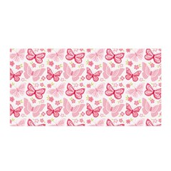 Cute Pink Flowers And Butterflies Pattern  Satin Wrap by TastefulDesigns