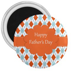 Happy Father Day  3  Magnets by Simbadda