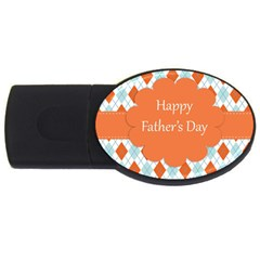 Happy Father Day  Usb Flash Drive Oval (4 Gb) by Simbadda