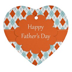 Happy Father Day  Heart Ornament (two Sides) by Simbadda