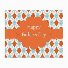 Happy Father Day  Small Glasses Cloth (2 Side) by Simbadda
