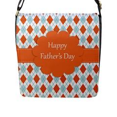 Happy Father Day  Flap Messenger Bag (l)  by Simbadda