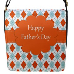 Happy Father Day  Flap Messenger Bag (s) by Simbadda