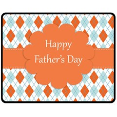 Happy Father Day  Double Sided Fleece Blanket (medium)  by Simbadda