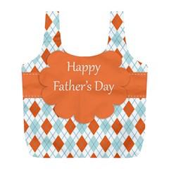 Happy Father Day  Full Print Recycle Bags (l)  by Simbadda