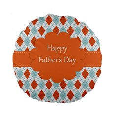 Happy Father Day  Standard 15  Premium Flano Round Cushions by Simbadda