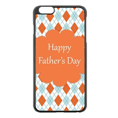 Happy Father Day  Apple Iphone 6 Plus/6s Plus Black Enamel Case by Simbadda