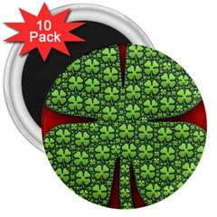 Shamrock Irish Ireland Clover Day 3  Magnets (10 Pack)  by Simbadda