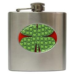 Shamrock Irish Ireland Clover Day Hip Flask (6 Oz) by Simbadda