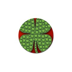 Shamrock Irish Ireland Clover Day Golf Ball Marker (4 Pack) by Simbadda