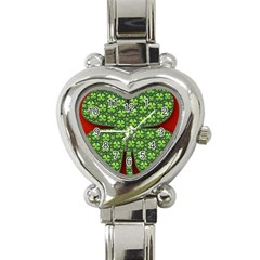 Shamrock Irish Ireland Clover Day Heart Italian Charm Watch by Simbadda