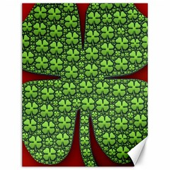 Shamrock Irish Ireland Clover Day Canvas 12  X 16   by Simbadda