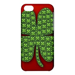 Shamrock Irish Ireland Clover Day Apple Iphone 5c Hardshell Case by Simbadda