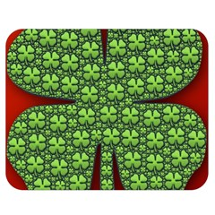 Shamrock Irish Ireland Clover Day Double Sided Flano Blanket (medium)  by Simbadda
